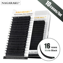 NAGARAKU 10 cases Flat Ellipse Eyelashes Maquiagem Split Tips Ellipse Shaped Natural Light Ma