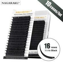 Nagaraku 10 casos liso elipse cílios maquiagem split dicas elipse em forma de luz natural ma
