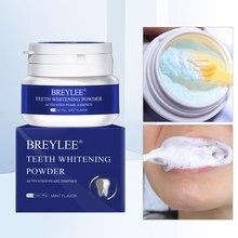 Breylee natural dentes branqueamento em pó kit de fornecimento 30g higiene oral mancha removedor higiene oral cuidados em pó limpeza dos dentes brancos
