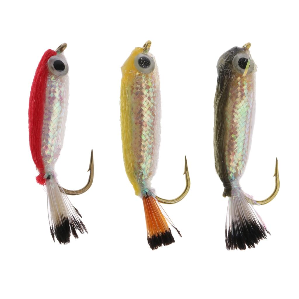 Fly Fishing Lure Fish Bait Sinking Wet Flies for Carp Bass Salmon Fishing