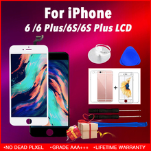 Black White Color LCD Display Touch Screen Replacement LCD For iPhone 6 AAA+++ Quality No Dead Pixel Fast Free DHL  excellent product 5pcs lot 2016 no dead spot for samsung j3 lcd display with touch screen replacement free dhl shipping