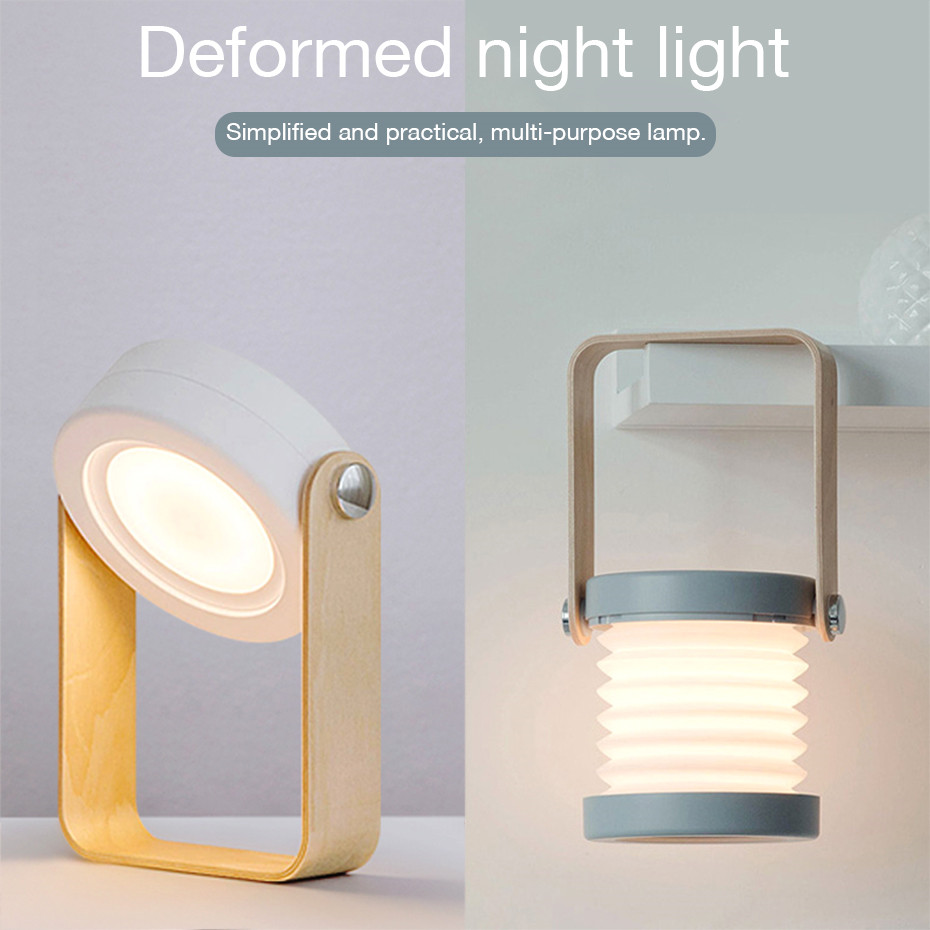 Novelty LED Table Lamp Book Reading Light USB Portable LED Folding Emergency Camping Tent Light Dimmable Warm White Night Light