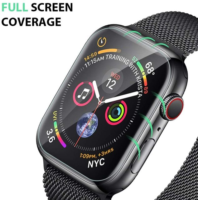 Screen Protector Clear Full Protective Film for iWatch 4 5 6 SE 40MM 44MM Not Tempered Glass for Apple Watch 3 2 1 38MM 42MM 3