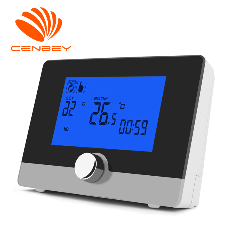 Room Thermostat Gas Boiler Termostat Underfloor Heating Thermostat Digital Wall-hung Battery Programmable Black White