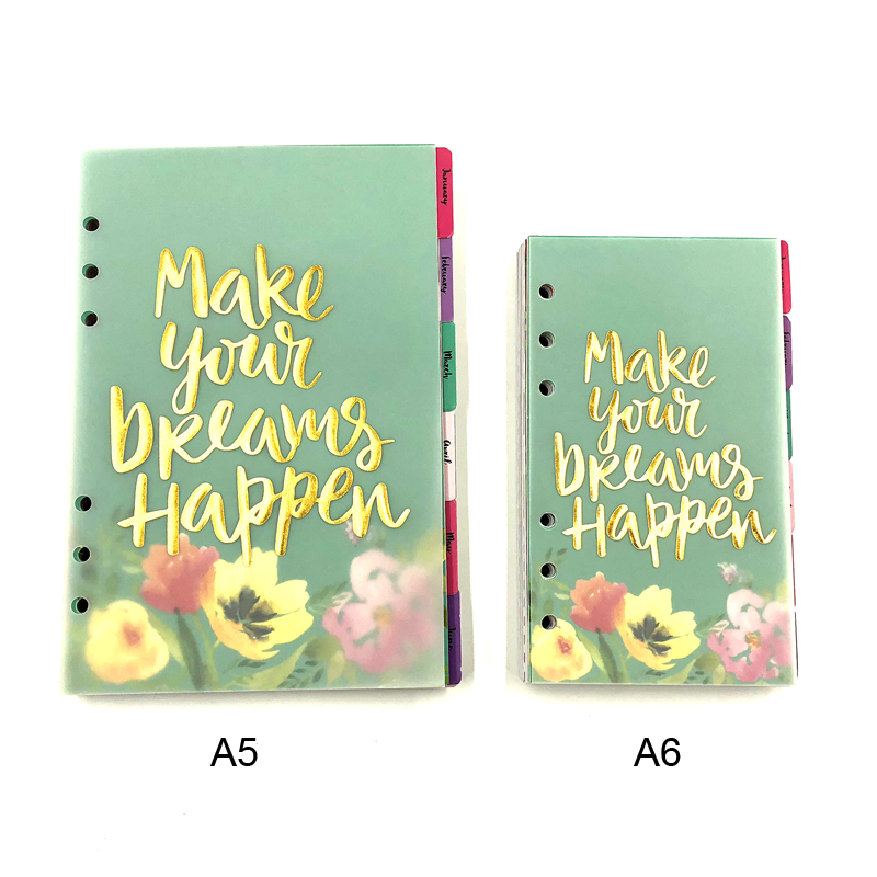 Fromthenon Cute Flower Planner Refill Filler Paper For Filofax Spiral Notebook 2019 Agenda Diary A5A6 School Stationery Supplies