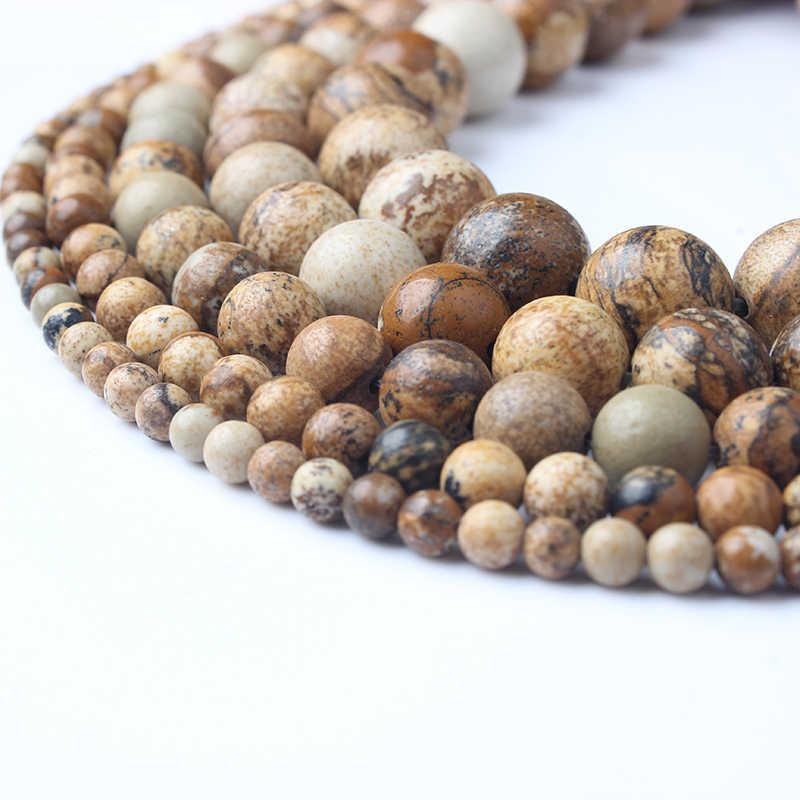 LanLi Fashiont Schmuck 4/6/8/10/12mm natürliche steine Lose Perlen serie DIY männer und frauen Armband Halskette fußkettchen Zubehör