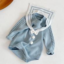 Jumpsuit Newborn Bodysuits Baby-Girl Knitting Toddler Infant Winter Autumn Navy-Style