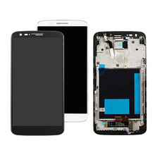 1Pcs Top quality new For LG G2 D800 D802 LCD Display Touch Screen Digitizer Black White No/with Frame 1pcs top quality new for lg g2 d800 d802 lcd display touch screen digitizer black white no with frame