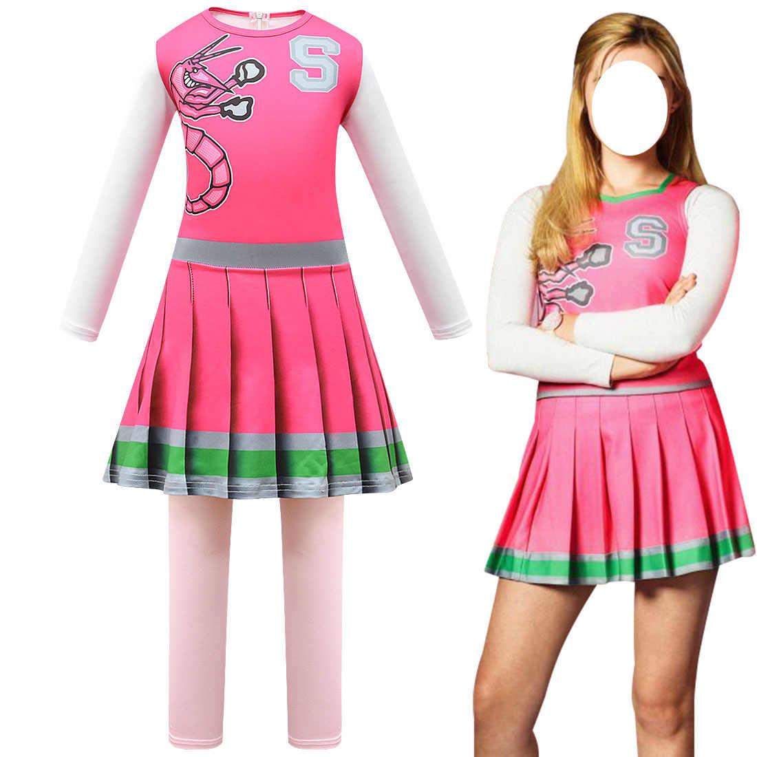 Kinder Karneval Halloween Cheerleader Kostüm Cosplay Mädchen Addison Outfit  Phantasie Kleid Zombie Cheer Camp Kostüme Kleidung für Mädchen