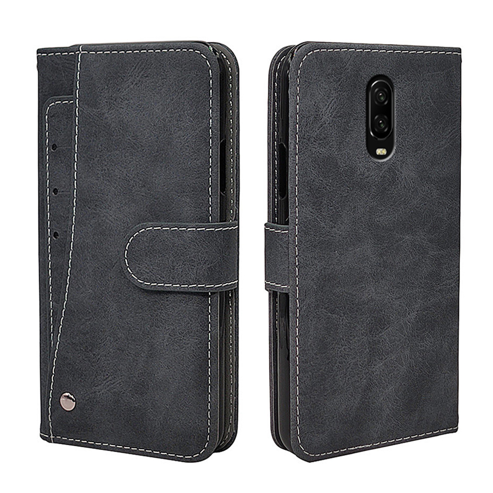 Luxury Vintage Case For OnePlus 1+ 9 9R 8 8T 7T 7 6 5 3 6T 5T 3T Pro Nord Case Flip Leather Soft Silicone Wallet Cover