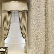 Cortinas personalizadas moderno chinês sala de estar alta precisão jacquard pontos pano branco cortina blackout valance tule painel c086