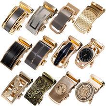 60 Kinds Metal Mens Relacement Belt Buckles Button Sliding Buckle Without Belt Black Gold Blue for 3.5 cm Ratchet Belts ONLY