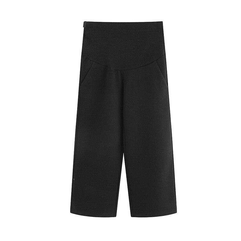 Pants Women Autumn Adjustable Belt Pregnancy Pants for Pregnant Women Loose Clothing Maternity Wear Elastic Waist Nine Trousers