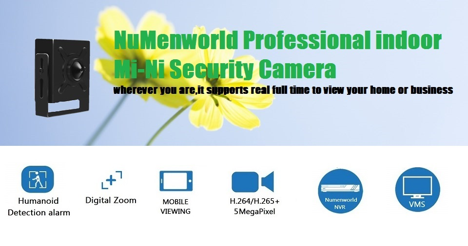 Numenworld câmera ip 5.0mp poe hd webcam