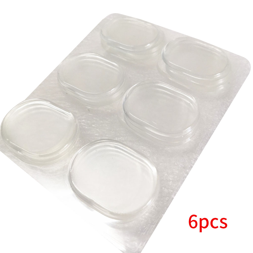 6pcs Drum Muffler Instrument Accessories Easy Apply Practical Mini Reusable Portable Overtone Reducing Gel Pad Transparent Home