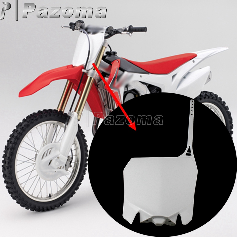 White Front Number Plate For Honda CRF250R 2010-2013 CRF450R 2009-2012 Plastic