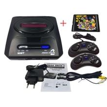 Console de jeu vidéo SEGA MD2 16 bits avec commutateur de Mode américain et japonais, pour les poignées d'origine SEGA exportent la russie avec 196 jeux classiques