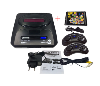 16 bit SEGA MD2 Video Game Console with US and Japan Mode Switch,for Original SEGA handles Export Russia with 196 classic games