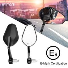 "E-mark мотоцикл 7/"" 22 мм зеркала заднего вида Ручка Бар Конец Зеркало для Yamaha R3 MT07 MT09 для BMW F800GS F650GS R1200GS для KTM"