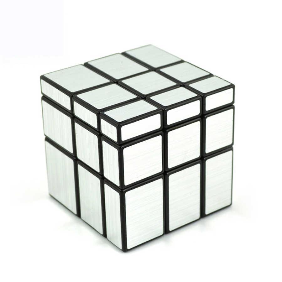 Puzzles Cubo Magico Spiegel Block Cube Geschwindigkeit Hand Spielzeug Solide Mini Magico Sensorischen Silber Cube Gold DD60MF