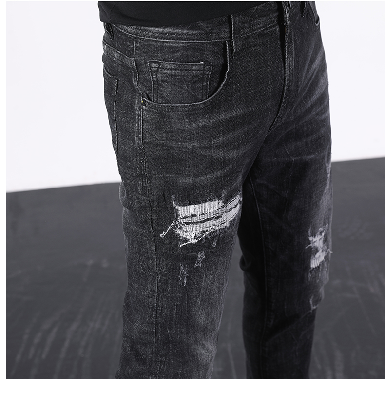 KSTUN Ripped Jeans Men Black Stretch Slim Fit Distressed Streetwear Hip Hop Casual Denim Pants Ankle Length Trousers 2020 Summer 17
