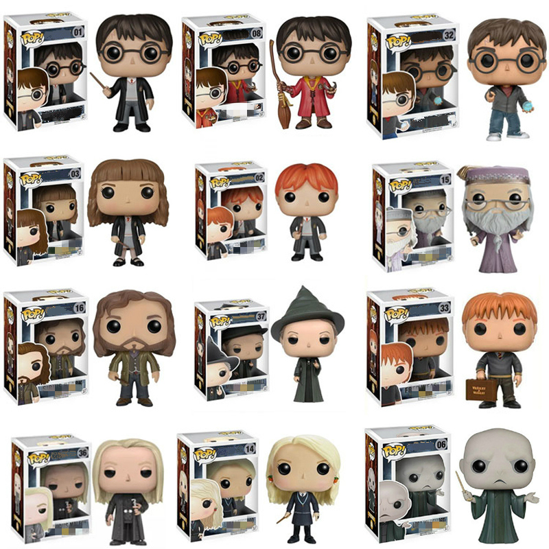 Funko POP Harri Potter Snape Luna Dobby Hermione Rubeus Action Figure Model Pvc Collection Toys For Chlidren Christmas Gifts