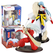 Anime Inuyasha Action Figure Sesshoumaru Dog Demon Tessaiga Tenseiga Sword Model Toys