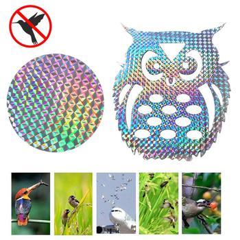 10/ 20 Pcs Bird Repeller Tape Reflective Anti Bird Sticker Bird Deterrent Reflective Sticker For Garden Courtyard Window Car