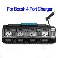 BOSCH 최신 충전기 14.4V 18V 리튬 이온 충전기 Rapid Optimum 4 포트 3A 충전 전류 교체 배터리 충전기 BS1418-04