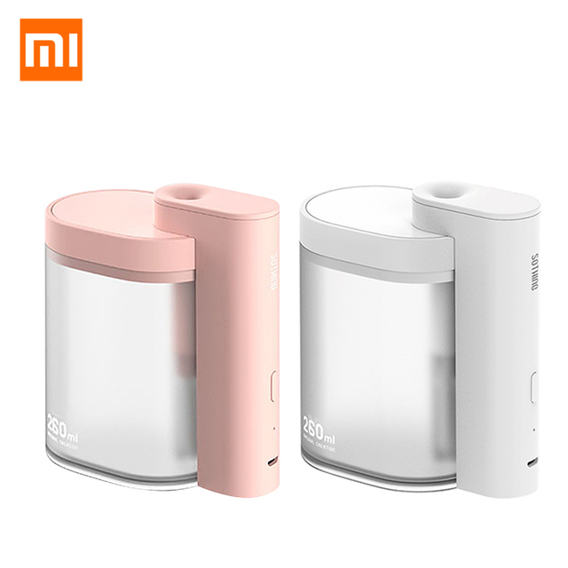 Xiaomi mijia 卓上加湿器超音波ミュート usb 充電 260 ミリリットル透明タンク空気清浄機水ネブライザーホームオフィス
