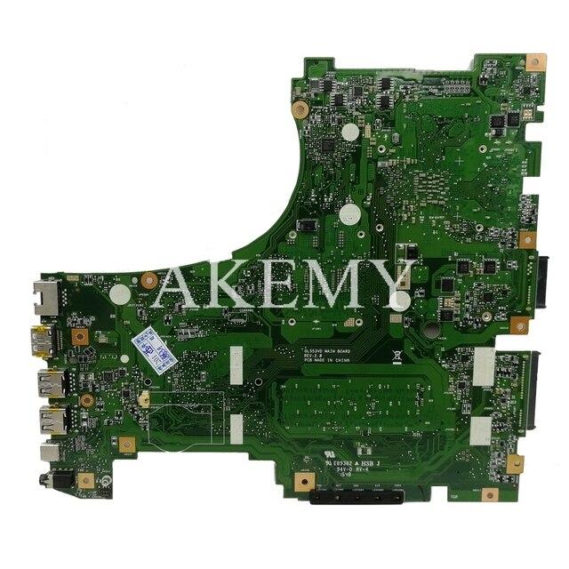 GL553VD placa base de Computadora Portátil para ASUS ROG GL553VD FX53VD ZX53V GL553VW prueba placa base original de I7-7700HQ GTX1050-4G