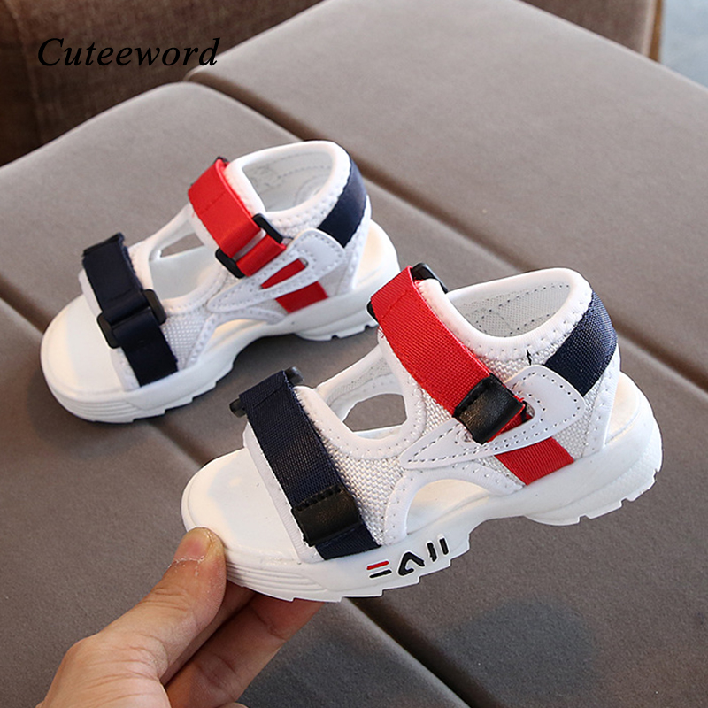 Kids Shoes For Baby Boys And Girls Sandals Summer New Mesh Breathable Children Shoes Beach Non-slip Soft Bottom Toddler Sandals