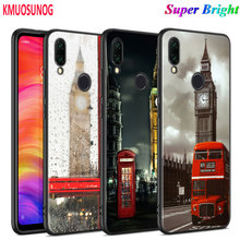 Black Silicone Cover Eiffel Tower London city for Xiaomi Redmi Note 8 7 6 5 4X 4 K20 Pro 7A 6A 6 S2 5A Plus Phone Case for xiaomi 6 8 a1 a2 redmi note s2 4 4x 5 5a 6 6a pro lite black silicon phone case eiffel tower london city style