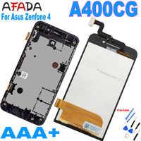Pantalla LCD Original de 4,0 pulgadas para Asus Zenfone 4, A400CG, marco de montaje de digitalizador de Panel de pantalla táctil para Asus A400CG