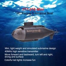 777-216 Мини RC гоночная подводная лодка R/C игрушки дистанционное управление игрушка подарок на день рождения для ребенка