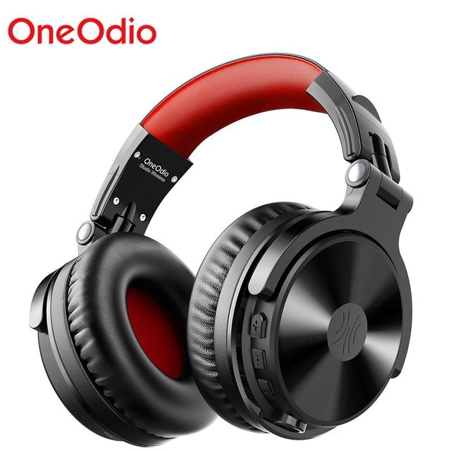 Oneodio auriculares inalámbricos con micrófono extensible para videojuegos, plegables, portátiles, Bluetooth V5.0