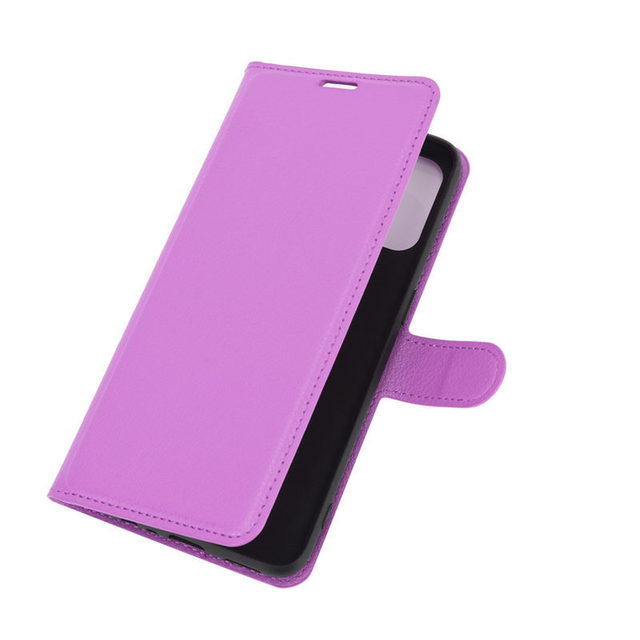 500Pcs/Lot Lychee Pattern Flip PU Leather Wallet Phone Case For Oppo Realme 7 Pro 7i C17 X7 Reno 4 SE 4G F17 5G A15 A72 A73 5