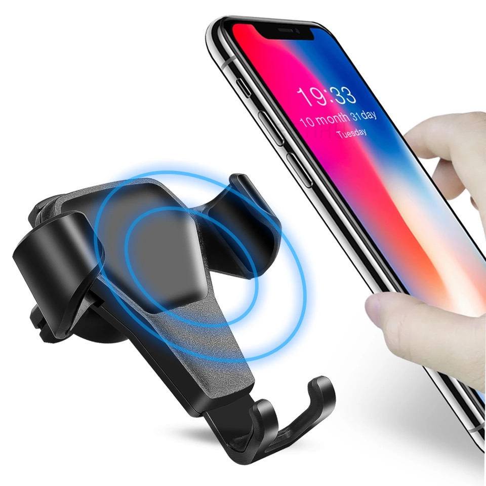 Gravity Car Holder For Phone In Car Air Vent Clip Mount No Magnetic Mobile Phone Holder Cell Stand Support For IPhone X 7 8 Plus