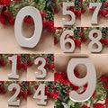1pc 8cm 0-9 Weiß Holz Buchstaben Englisch Alphabet Anzahl Dekoration Persönlichkeit Name Design Kunst Handwerk Hochzeit party Home Decor
