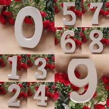 1pc 8cm 0-9 białe drewniane litery angielski alfabet numer dekoracji osobowość nazwa projekt rzemiosło artystyczne ślubne dekoracje na domowe przyjęcie