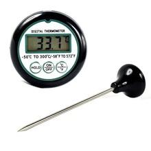 المحمولة LCD الطبخ مسبار الطعام ميزان الحرارة مقياس حرارة اللحوم الشواء شواء ميزان الحرارة أدوات الرقمية مقياس حرارة للمطبخ 300 درجة مئوية