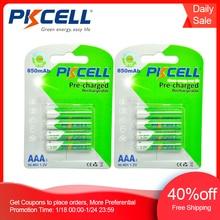 PKCELL 8Pcs/การ์ด2 AAAแบตเตอรี่NIMH Aaa Low Self Discharge 3Aชาร์จNi MH 850MAh 1.2Vแบตเตอรี่Bateria
