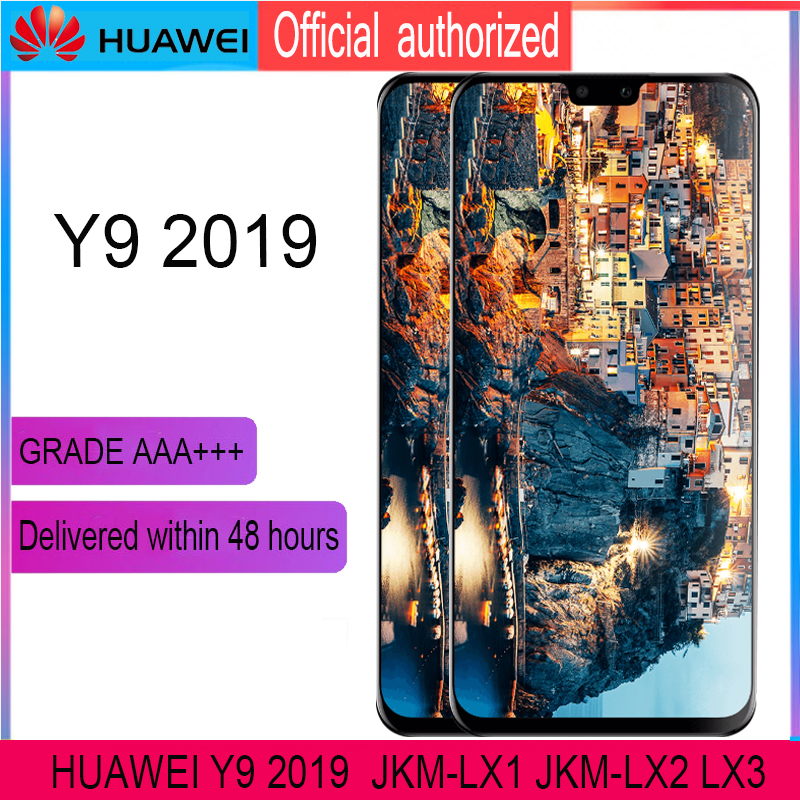 ORIGINAL 6.5'' Display With Frame For Huawei Y9 2019 Enjoy 9 Plus LCD Touch Screen Digitizer Assembly JKM-LX1 JKM-LX2 JKM-LX3