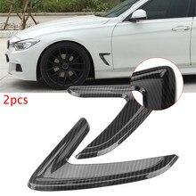 1 par coche lado cubierta de ventilación de aire Trim Fender etiqueta decoración para BMW Serie 3 F30 2012-2016 de fibra de carbono ABS pegatinas de coche
