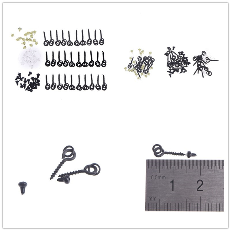 20pcs Screw Peg with Ring Swivel Chod Rig Terminal Tackle Bait Holder Carp New Fishing Accessories