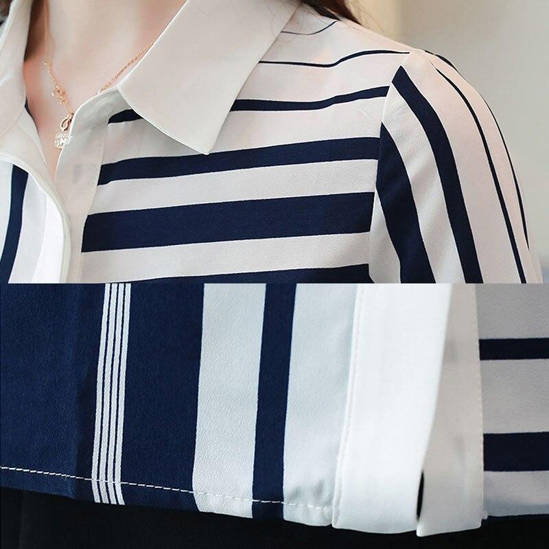 long-sleeved chiffon blouse striped 5