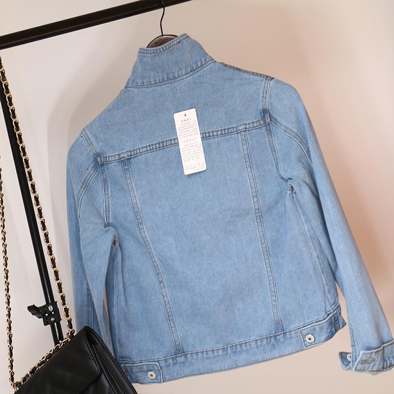 Jeans Jacket and Coats for Women 2019 Autumn Candy Color Casual Short Denim Jacket Chaqueta Mujer Casaco Jaqueta Feminina (11)