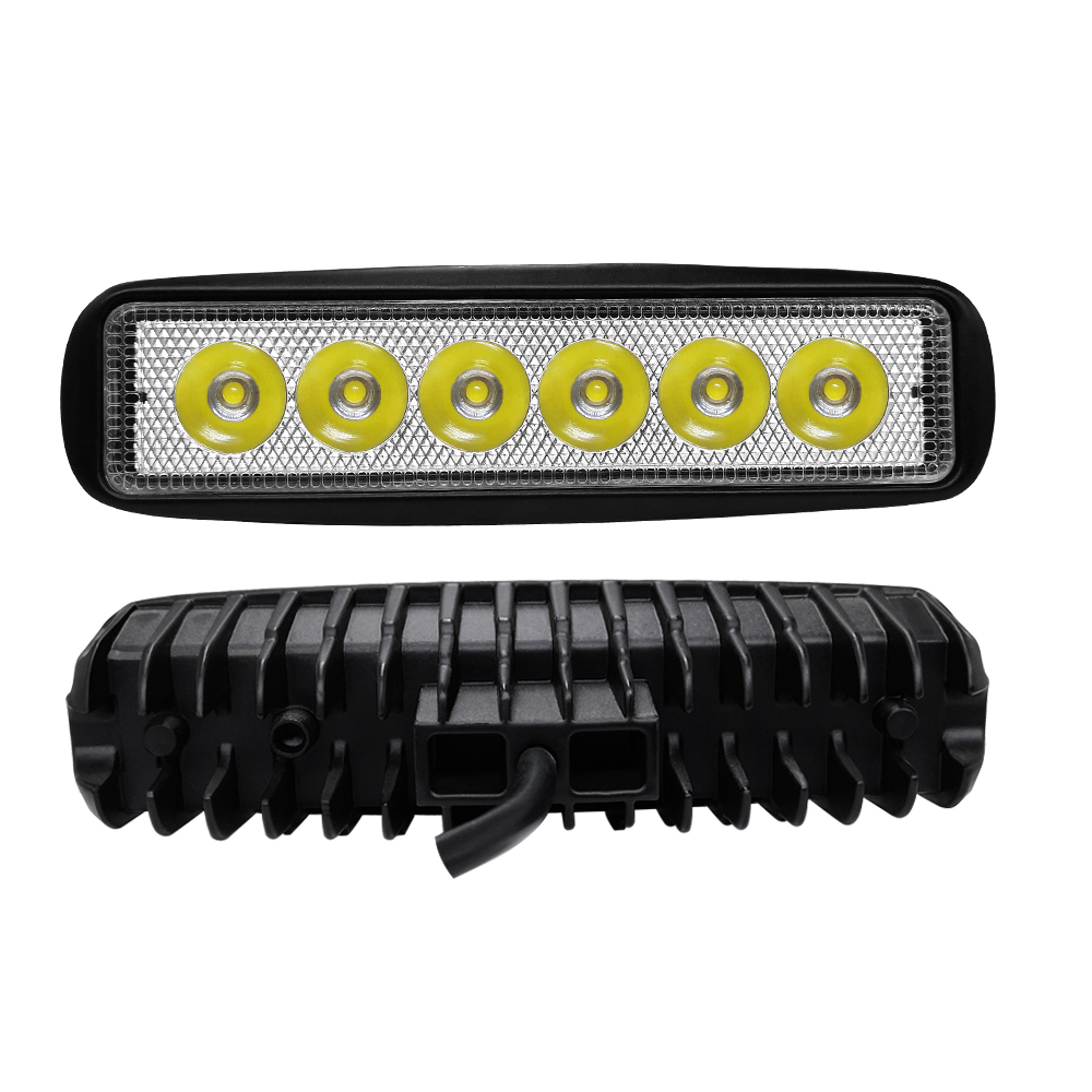 Image 2 - 6 LED Beads Combo Led Light Bars 6000K Auto Worklight Car Tractor Truck 4x4 SUV ATV Running Lamp Tractor Bar Off Road Fog Light-in Light Bar/Work Light from Automobiles & Motorcycles