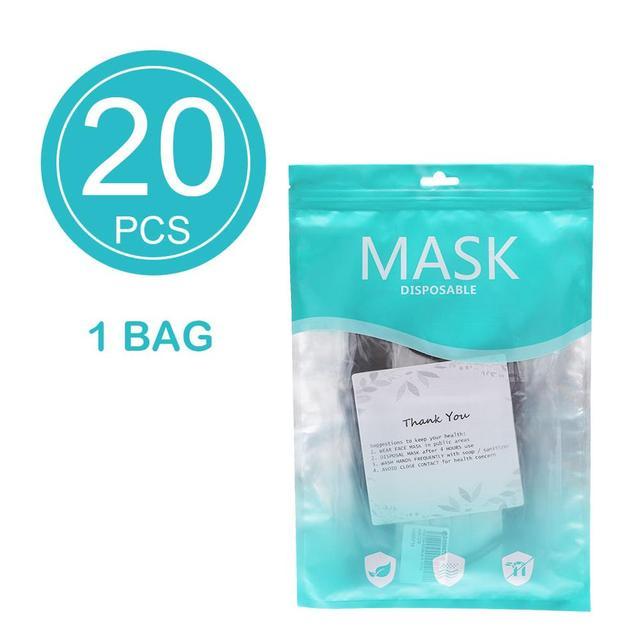 5/10/20/50pcs Disposable Masks Breathable Mouth Mask Disposable Ear loop Face Masks 4
