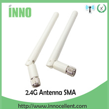 цена на 20pcs/lot 2.4 GHz WIFI Antenna 2dBi-3dbi Aerial RP-SMA connector Omni White for Wireless Router Rubber free shipping